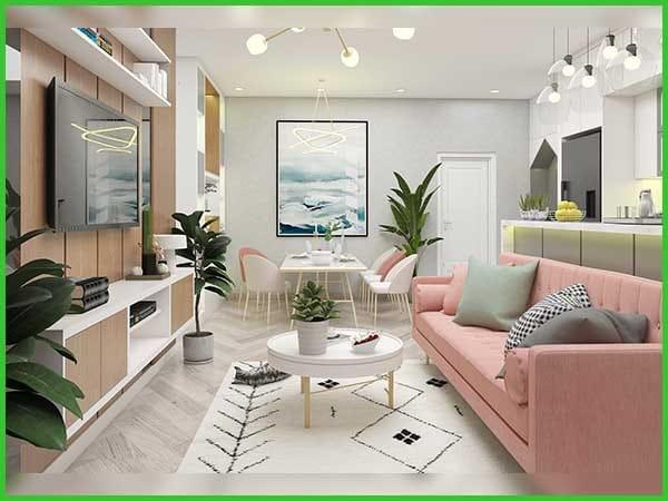 Thiết kế nội thất đơn giản tiện nghi 2021