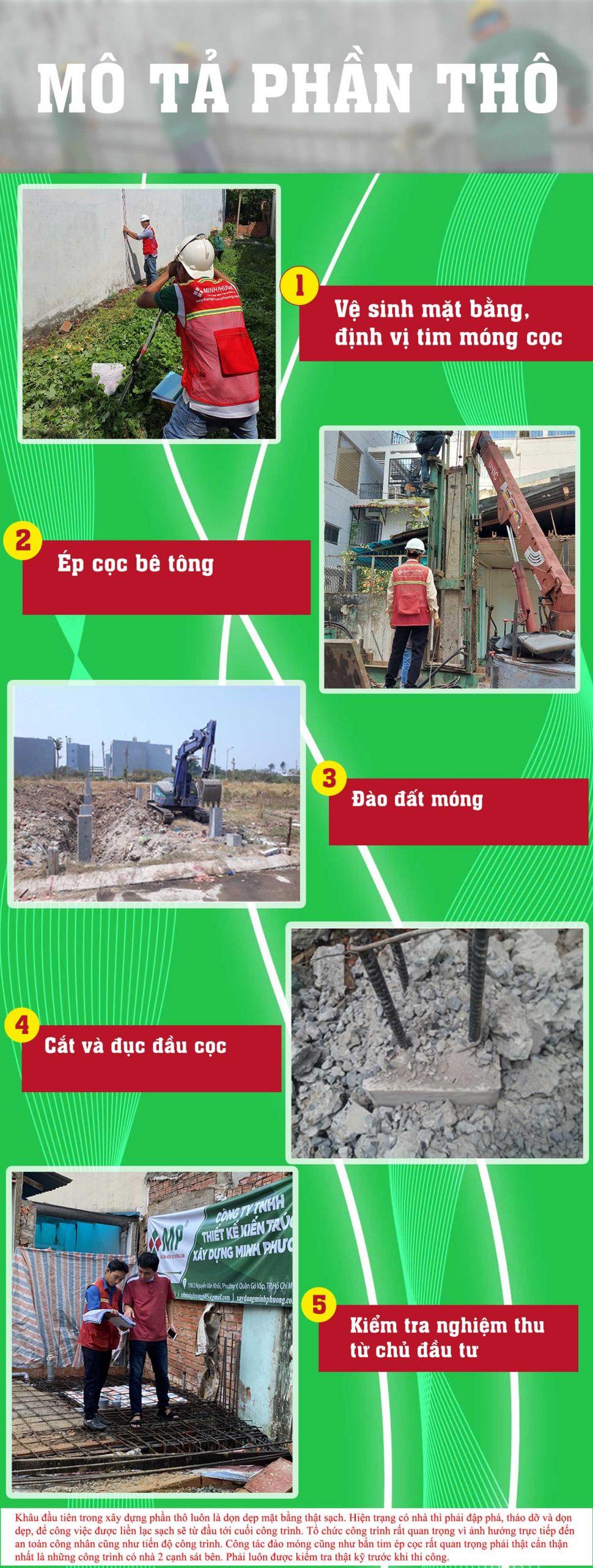 mô tả xây dựng phần thô