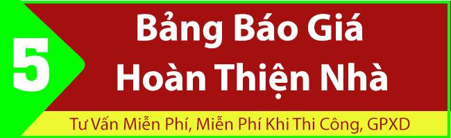 BẢNG BÁO GIÁ HOÀN THIỆN NHÀ Ở TPHCM NĂM 2021