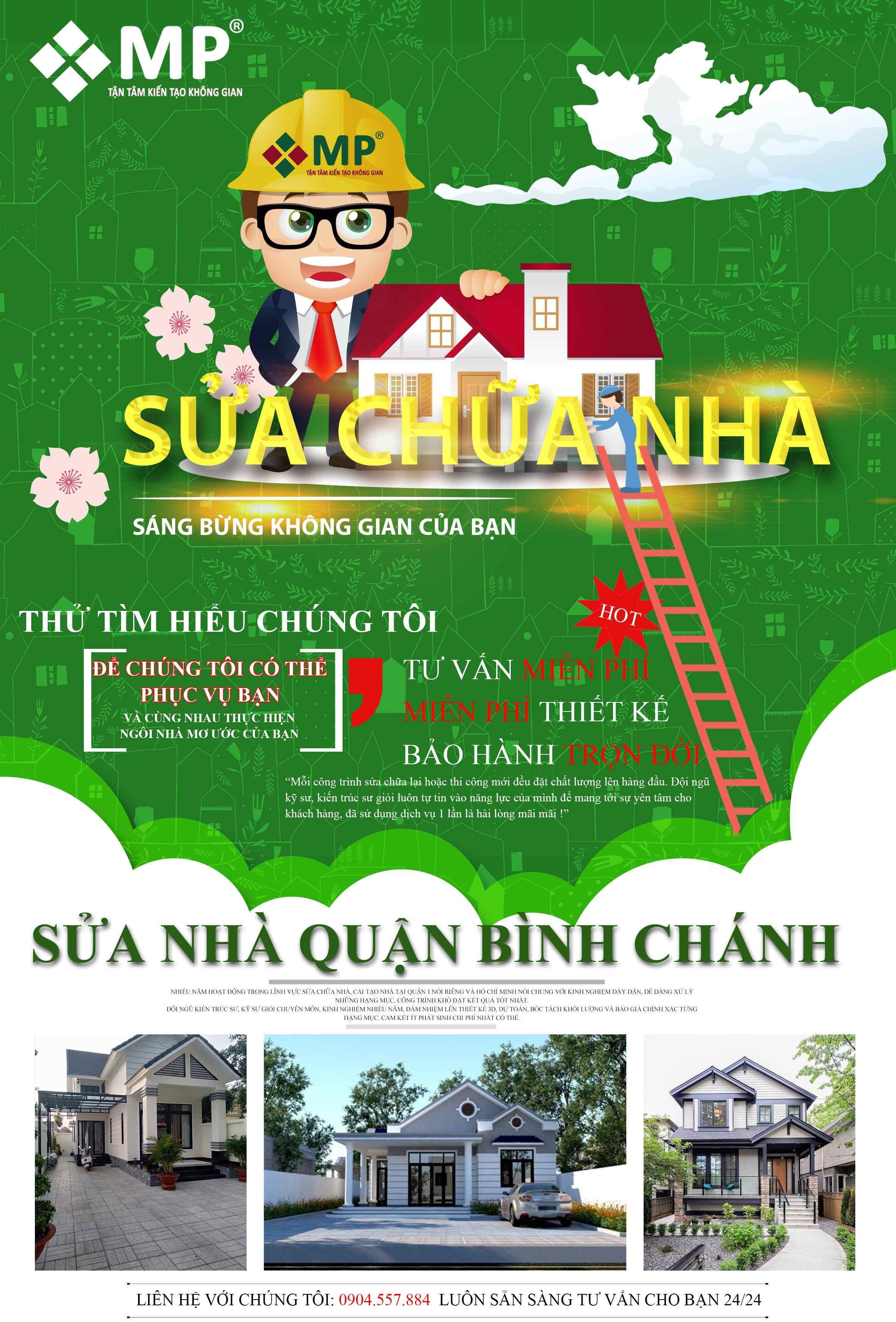 Công ty sửa chữa nhà huyện Bình Chánh