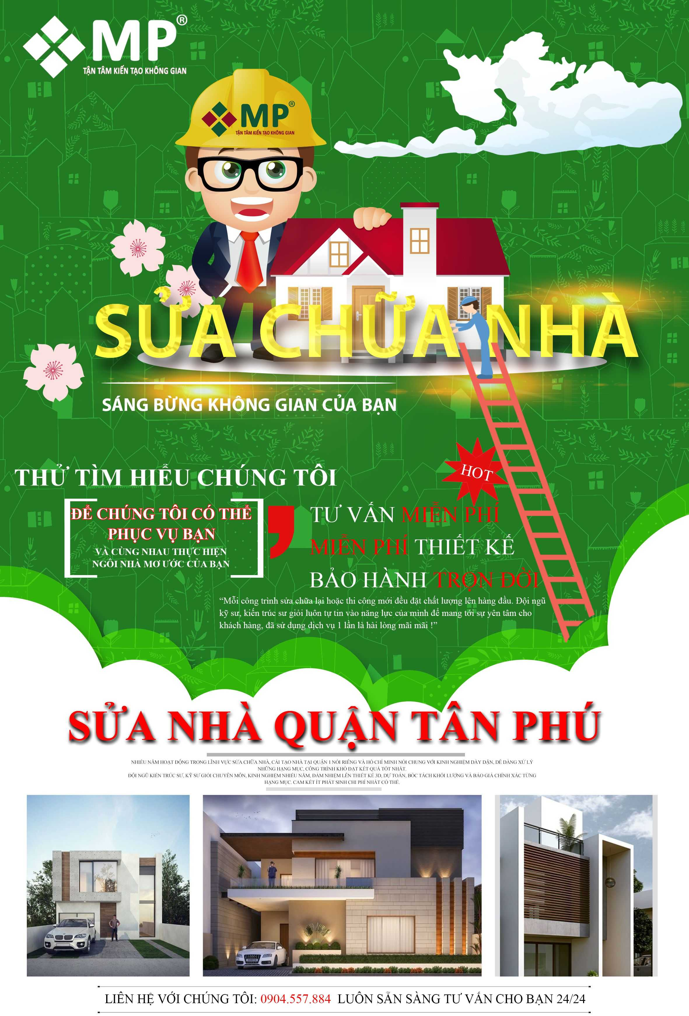 Công ty sửa chữa nhà quận Tân Phú