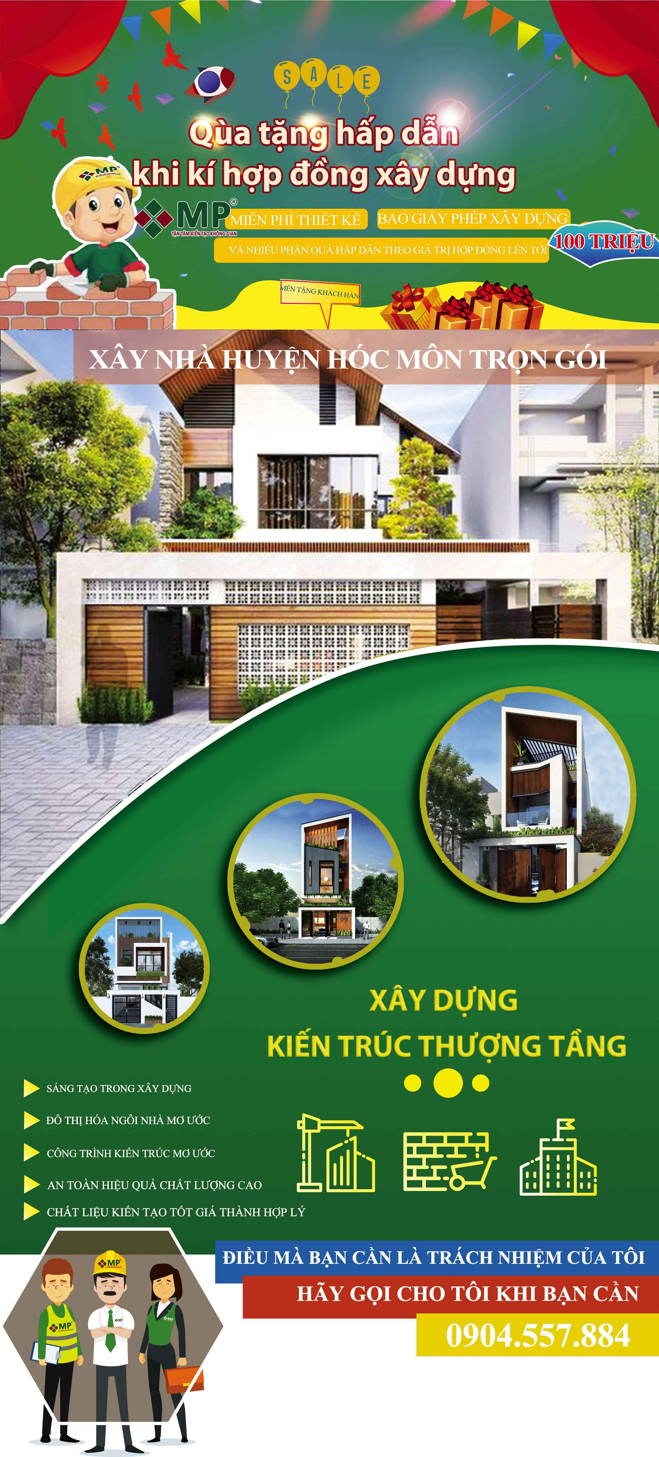 Công ty thiết kế xây dựng nhà huyện Hóc Môn