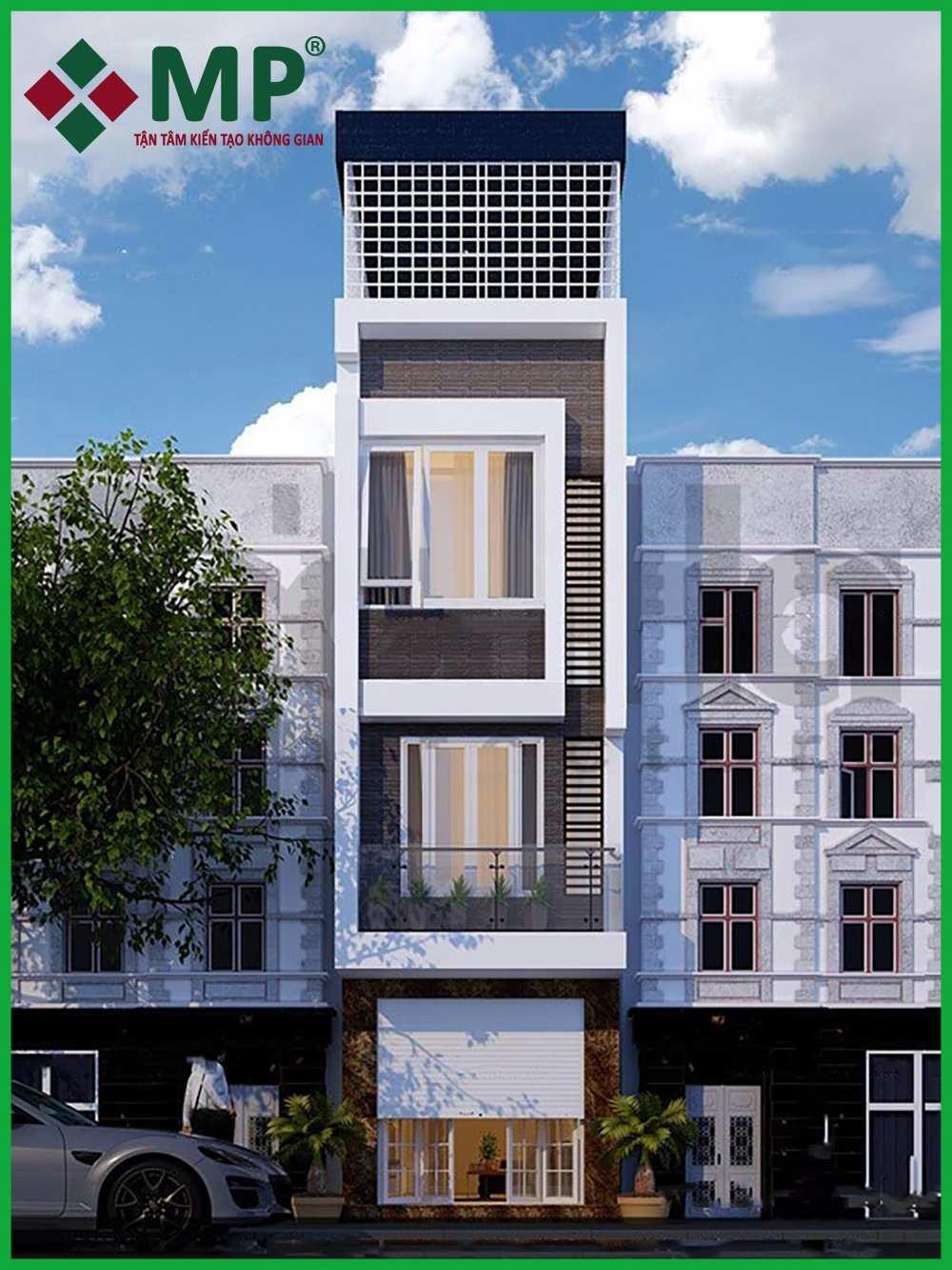 Mẫu nhà phố 4 tầng hiện đại nhất năm 2020