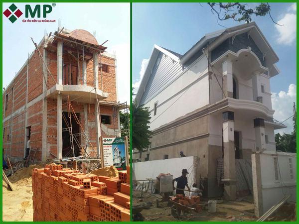 Dự án xây dựng nhà anh Sơn Biệt Thự 1 lầu 1 trệt tại Hóc Môn