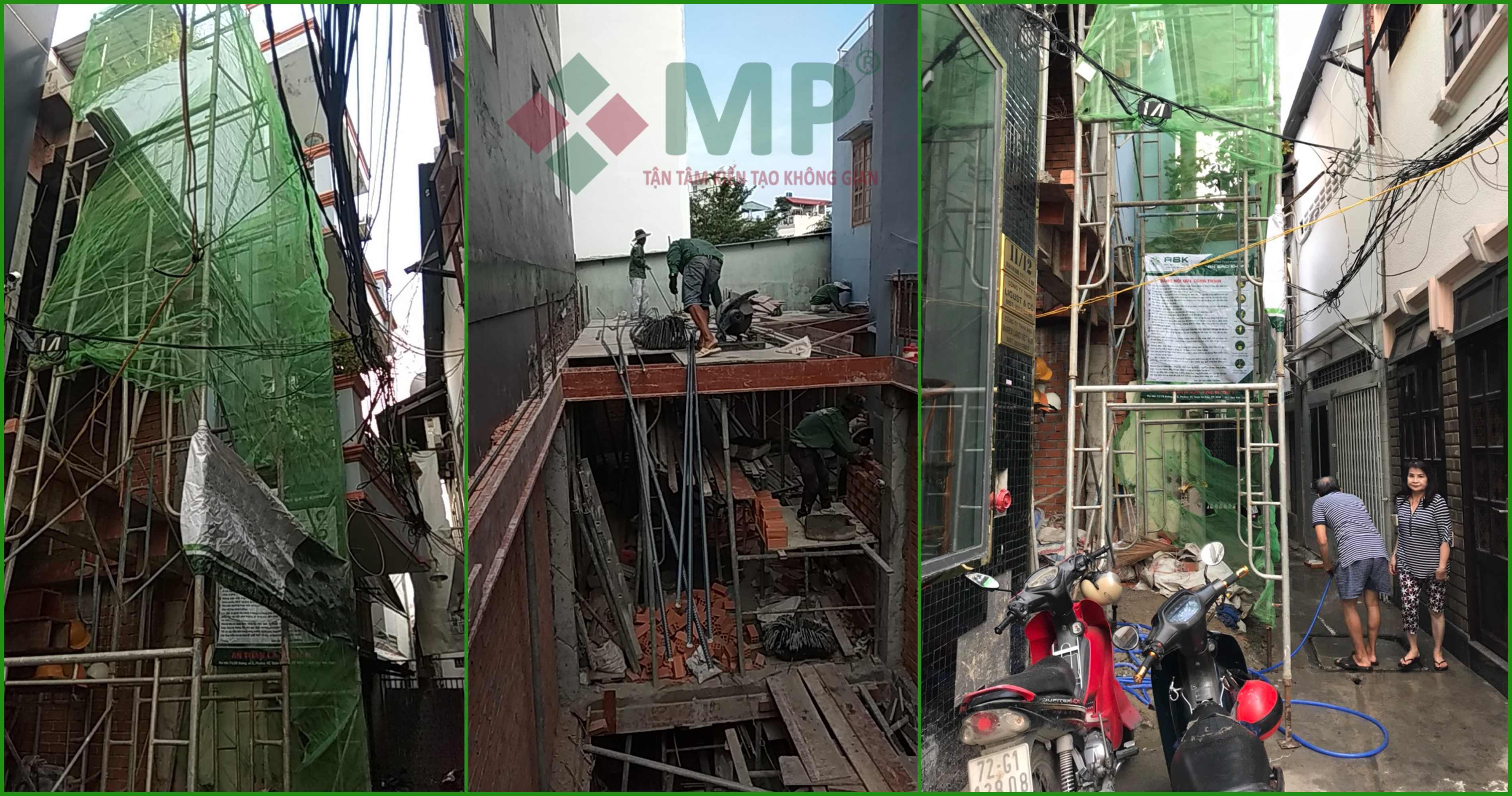 Xây dựng nhà quận Bình Thạnh nhà chị Mai