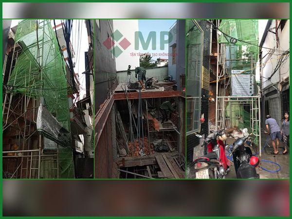 Dự án xây dựng nhà trọn gói 2 lầu chị Mai quận Bình Thạnh