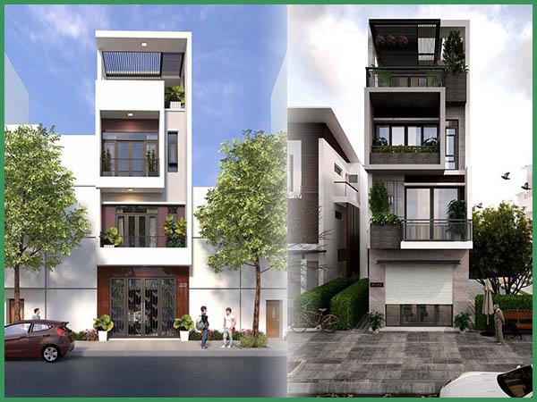 chi phí xây nhà 4 tầng 120m2