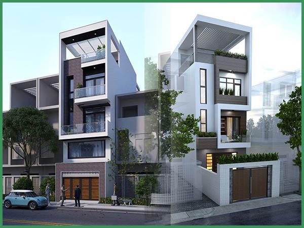 Cách tính chi phí xây nhà 5 tầng 60m2 tối giản