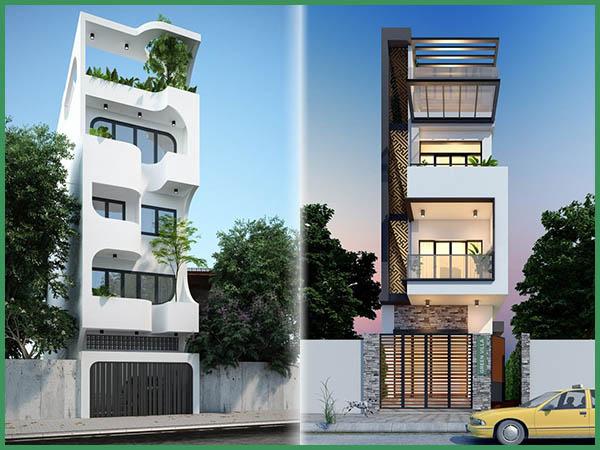 Báo giá chi phí xây nhà 5 tầng 90m2 theo 2 phương án