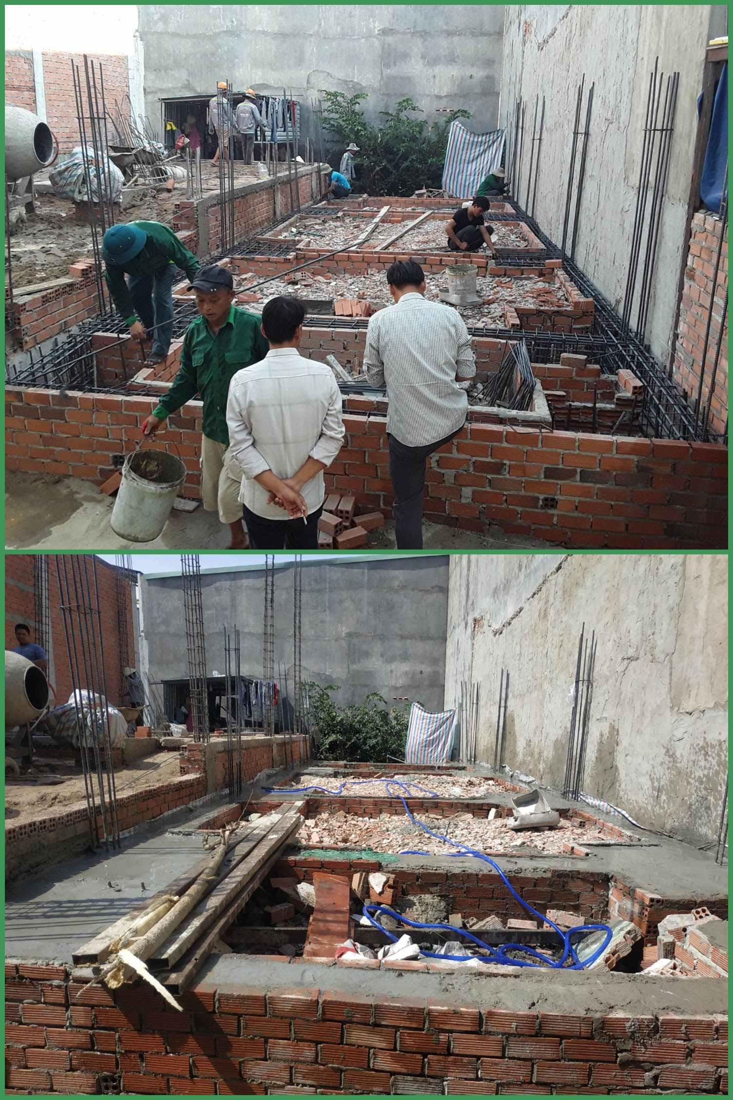 xây dựng nhà phố3 tầng Tân Bình anh Hòa