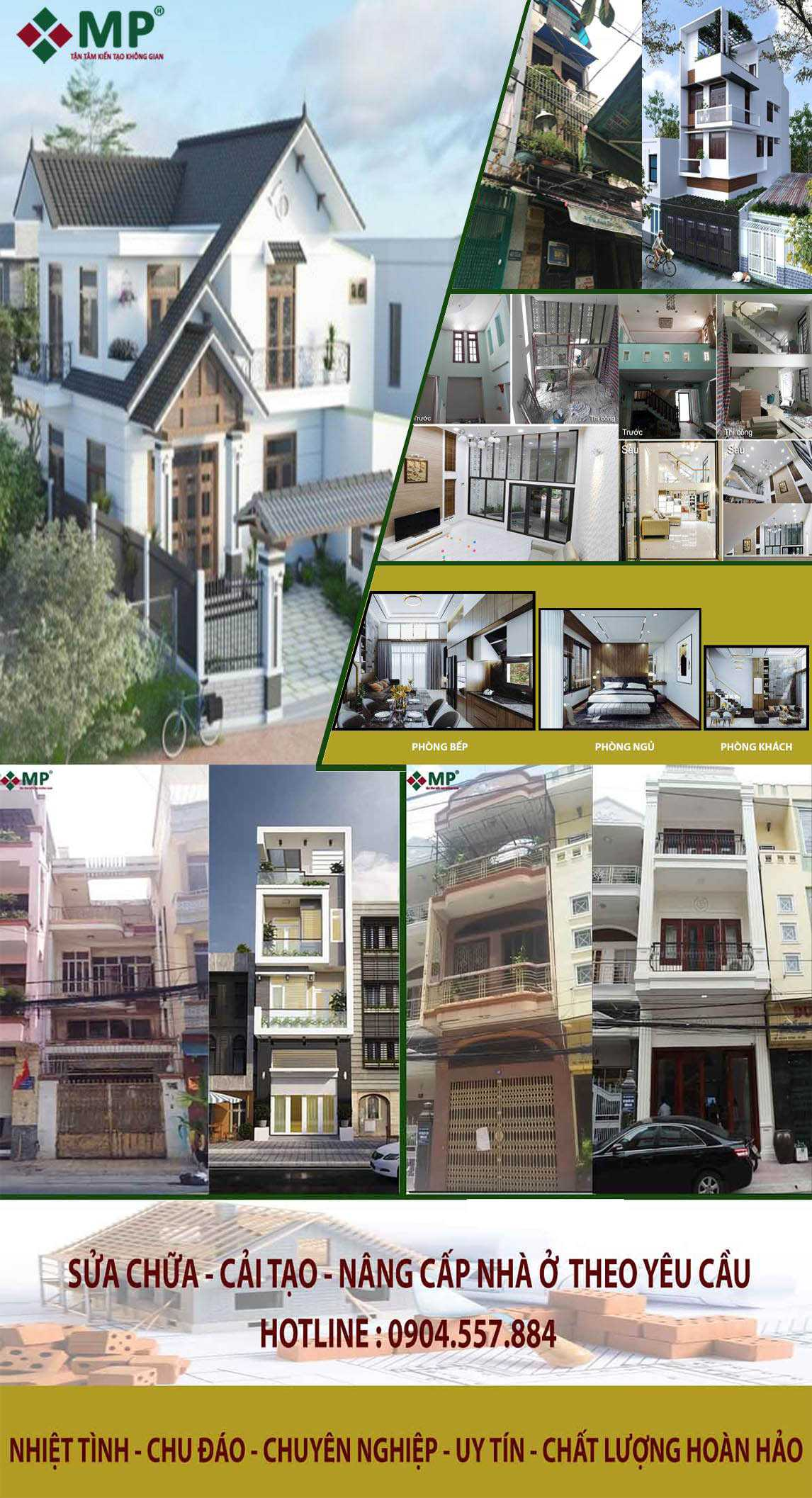 Thiết kế thi công sửa nhà biệt thự