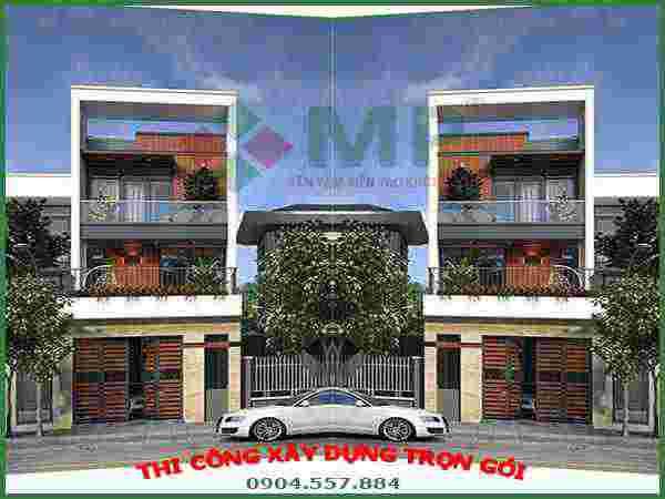Xây dựng nhà phố 3 tầng Quận 12 anh An 80m2