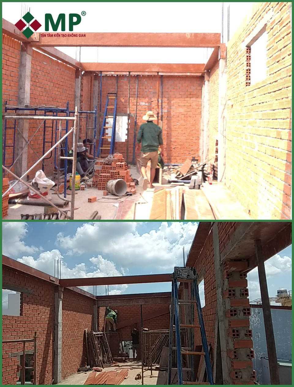 xây dựng nhà phố2 tầng quận 12 anh Tú