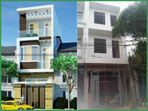 Dự án xây dựng nhà phố 2 tầng gò vấp chị Thảo