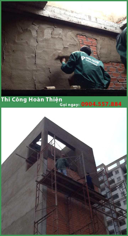 xây dựng nhà phố 2 tầng gò vấp chị thảo