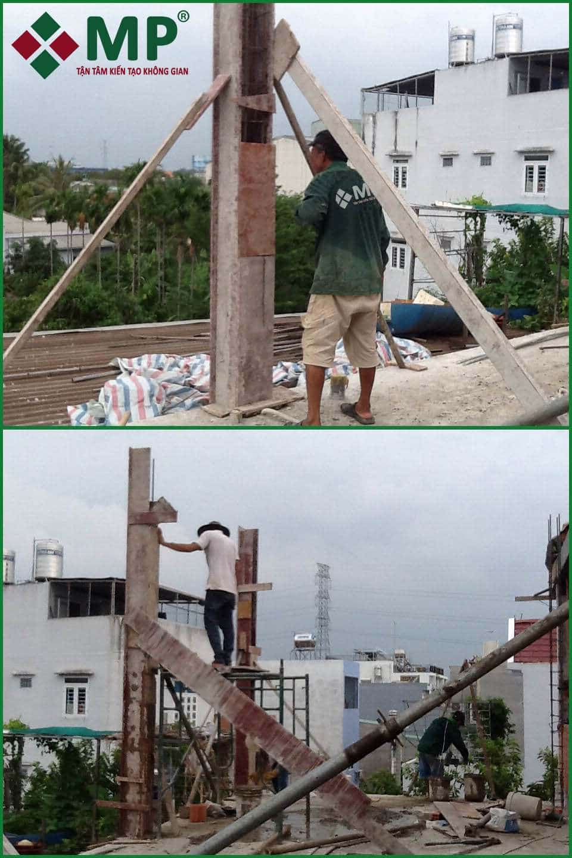 Xây dựng nhà phố trọn gói 4 tầng gò vấp anh Tuấn