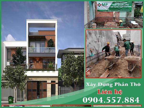 Dự án xây dựng nhà phố phần thô 3 tầng quận 12 anh Minh