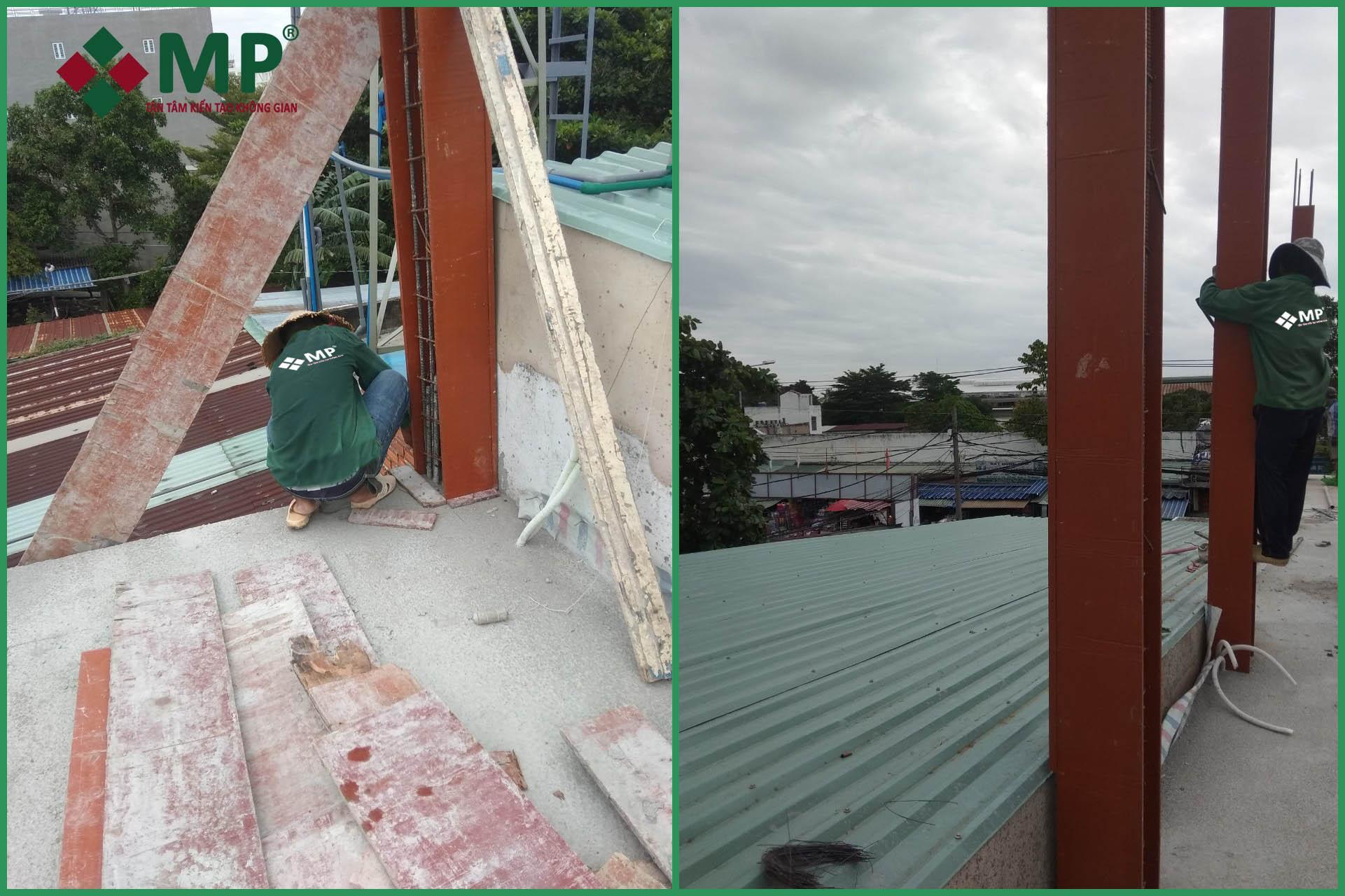 xây dựng nhà phố phần thô 3 tầng quận 12 anh Minh