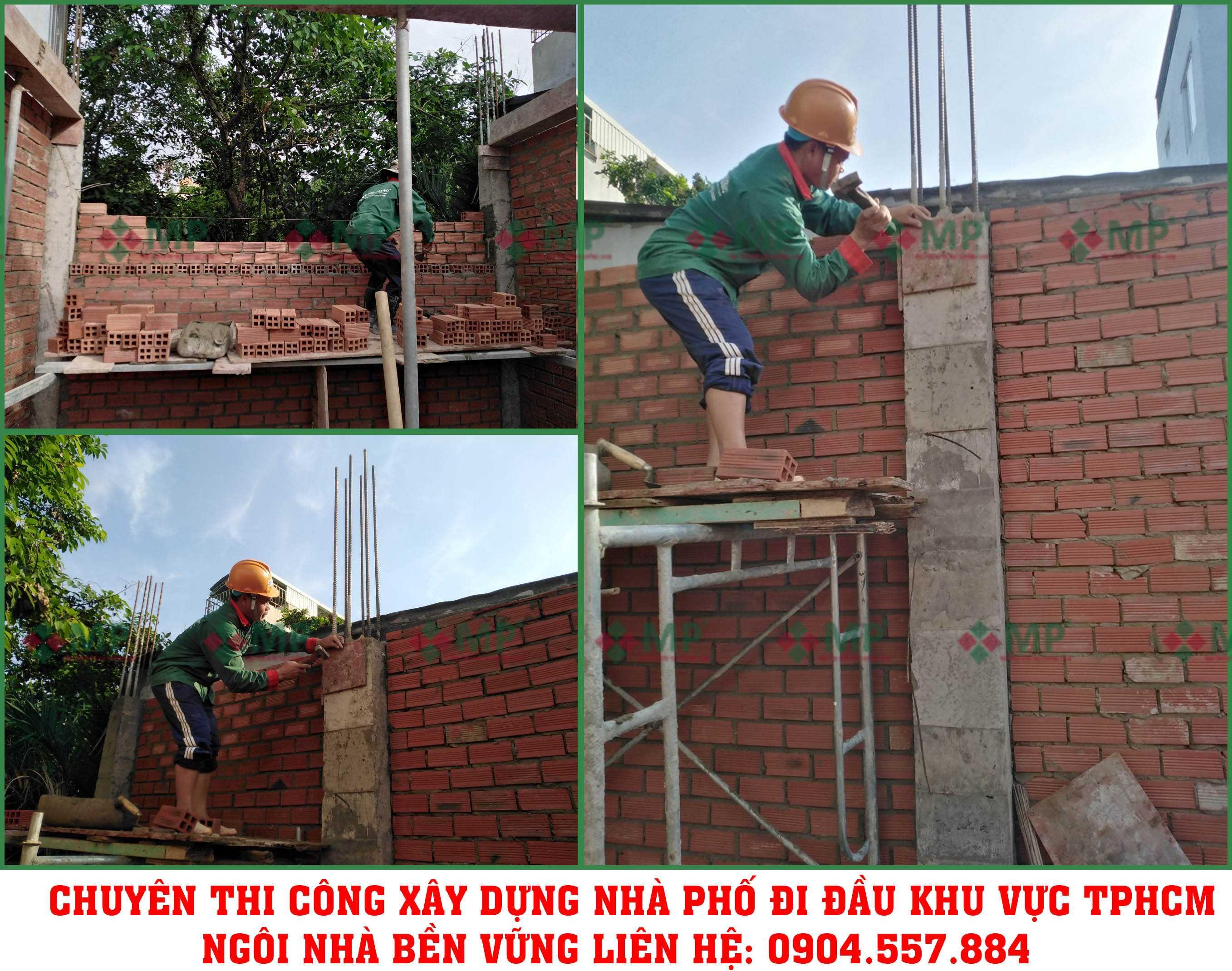 xây dựng nhà phố3 tầng Quận Thủ Đức Chị Dung