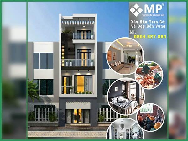Dự án xây dựng nhà phố trọn gói 4 tầng Quận Gò Vấp anh Tuấn