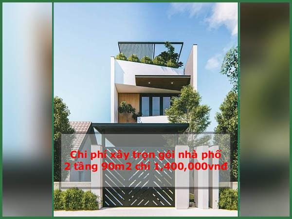 Tư vấn hỗ trợ xây dựng: giá xây dựng nhà 2 tầng 90m2 hiện nay có đắt không?