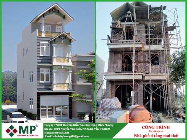 Xây nhà phố trọn gói 4 tầng quận Gò Vấp anh Chí