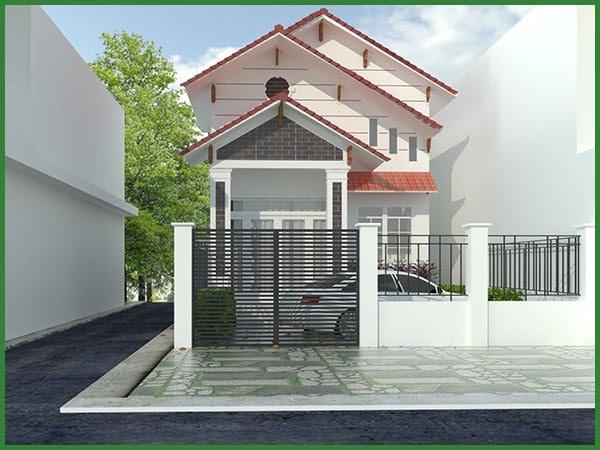 Thiết kế thi công nhà cấp 4 mái thái chị Uyên quận 12