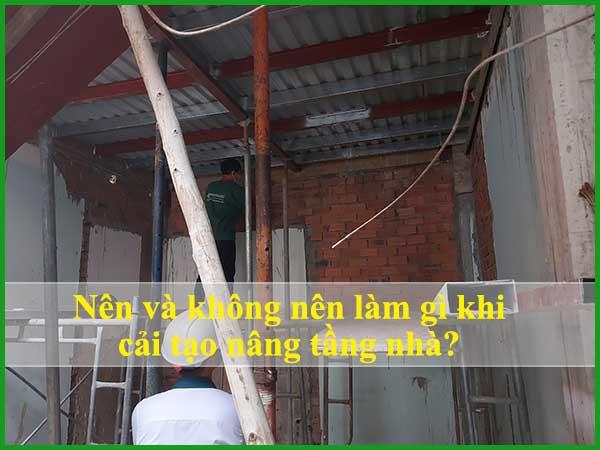 Những điều nên làm và không nên khi cải tạo nâng tầng nhà