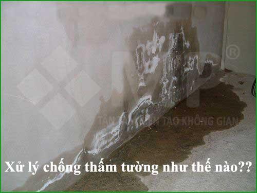tường ẩm thấp nấm mốc