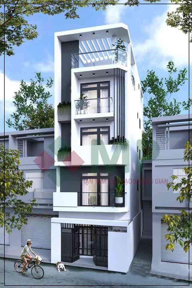 mẫu thiết kế nhà ở 4 tầng