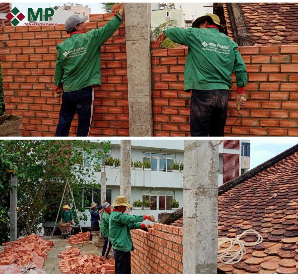 Thi công xây nhà 3 tầng