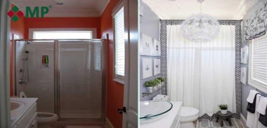 Nhà vệ sinh trước và sau cải tạo