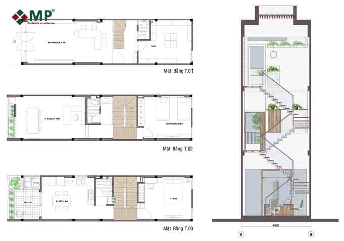 bản vẽ thiết kế sửa nhà 3 tầng