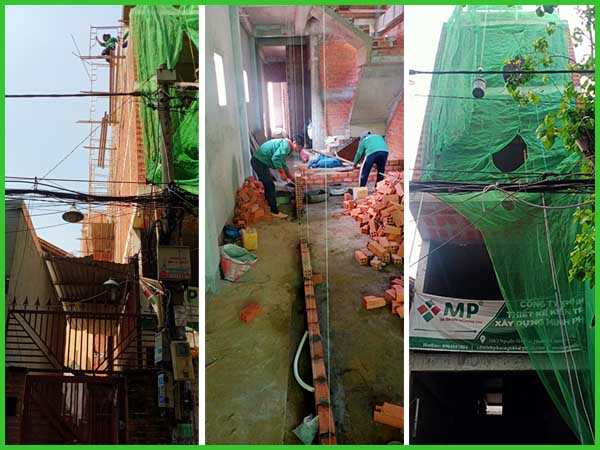Cập nhập tiến độ thi công xây dựng nhà 1 trệt 1 lửng 3 lầu anh Trung Quận 3