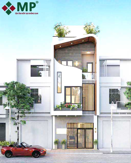 thiết kế xây nhà trọn gói nhà phố hiện đại