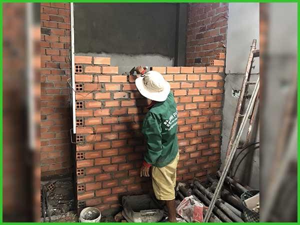Cập nhập tiến độ thi công xây dựng nhà phố 2 tầng anh Vũ tại Hóc Môn