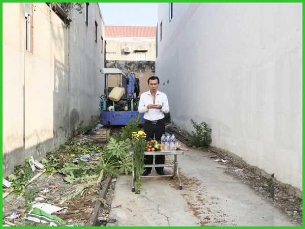 Khởi công xây nhà trọn gói Gò Vấp chị Thương