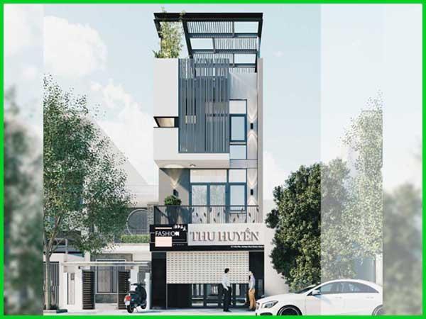 Thiết kế xây nhà phố kinh doanh 3 tầng