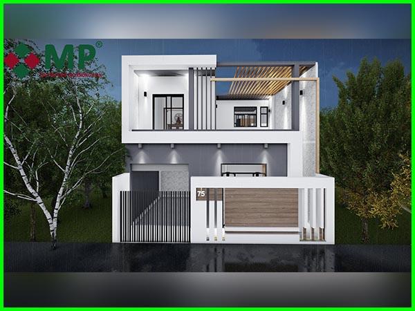 Thiết kế thi công biệt thự hiện đại 2 tầng anh Ánh quận 12